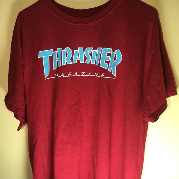 9af95ab39370 Thrasher Shirts | Magazine Skate Shirt Mens Sz Xl Red Blue | Poshmark